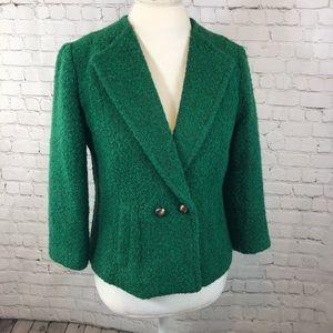 Cabi 532 Ivy Kelly Wool Green Lined Blazer